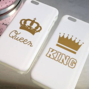 coques telephones king and queen