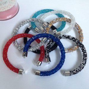 bracelet jonc ouvert type swarovski