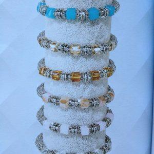 bracelets cristal stella green et acier