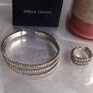parure cristal bague et bracelet