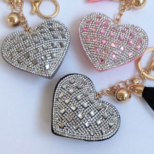 porte cles strass coeur