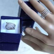 serpent bague strass