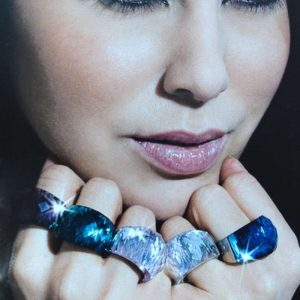 bague cristal style swarovski