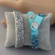bracelet bleu et strass