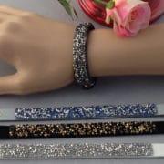 bracelet brillants et bouton pression