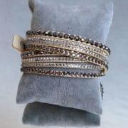 bracelet multirang beige