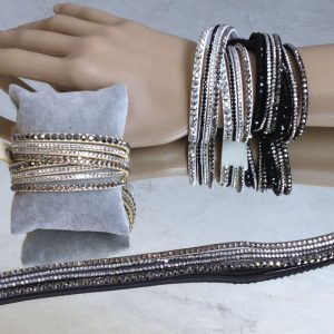 bracelet multirangs strass
