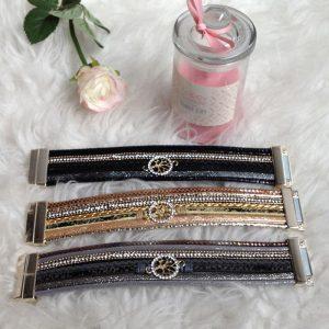bracelet similicuir aimante