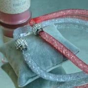 collier aimante strass et brillants resille