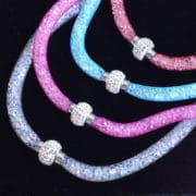 collier resille couleur et strass