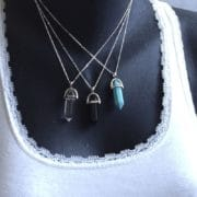collier chaine et pierre naturelle