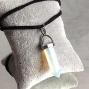 pendentif pierre transparente