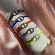 bracelet cordon et acier