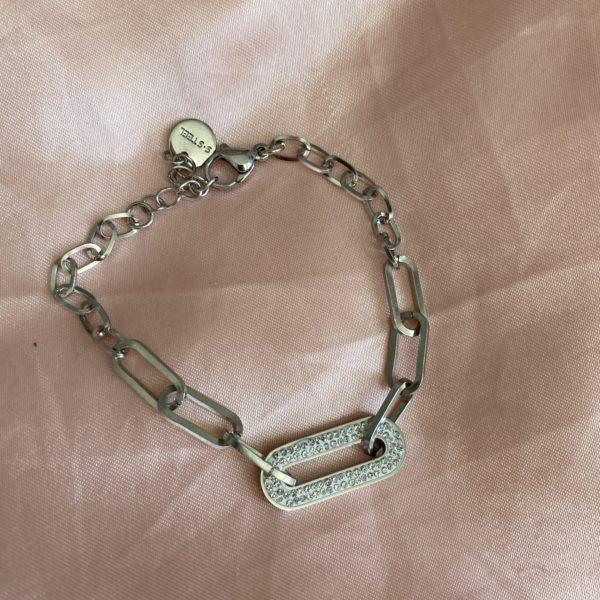 Bracelet maillon zirconium