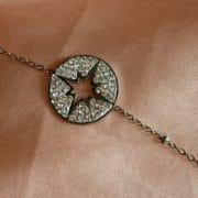 bracelet médaillé étoilé